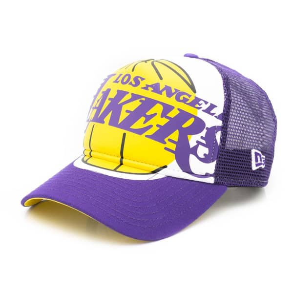 sneakers for cheap de611 99dde New Era Los Angeles Lakers Retro Pack Trucker NBA Cap   TAASS.com Fan Shop