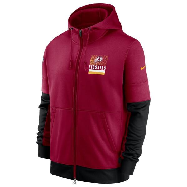 Washington Redskins 2020 NFL Sideline Lockup Nike Therma Full-Zip Hoodie
