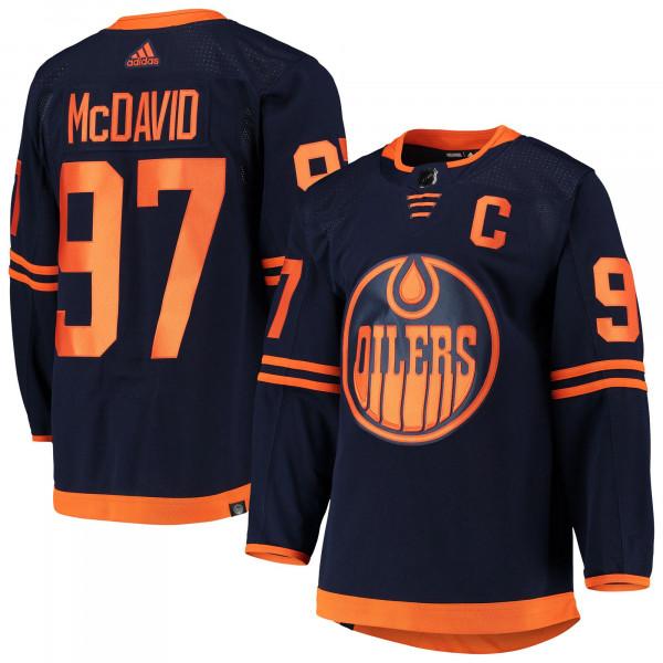 Connor McDavid #97 Edmonton Oilers Authentic Pro NHL Trikot Third
