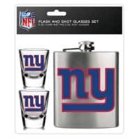 New York Giants NFL Flachmann & Schnapsgläser Set