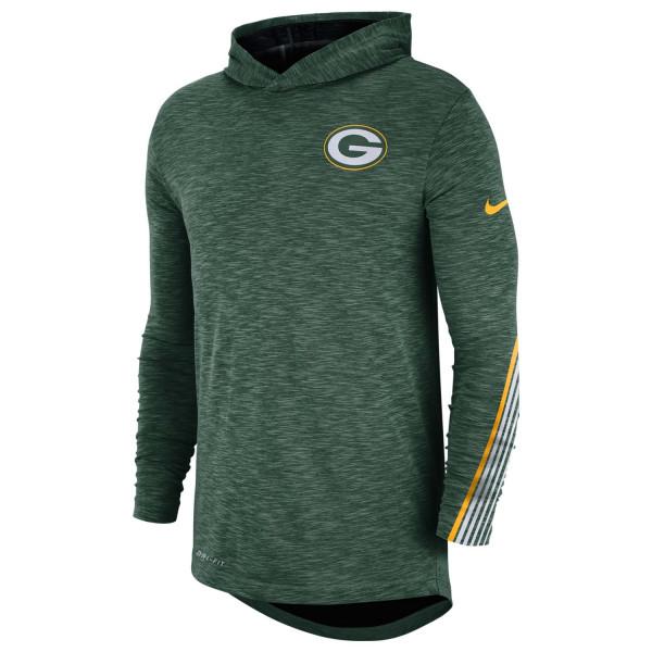 Green Bay Packers 2019 NFL Sideline Scrimmage Long Sleeve Hoodie Tee