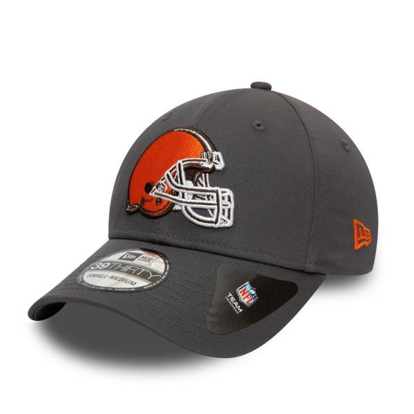 Cleveland Browns Team New Era 39THIRTY Flex Fit NFL Cap Grau