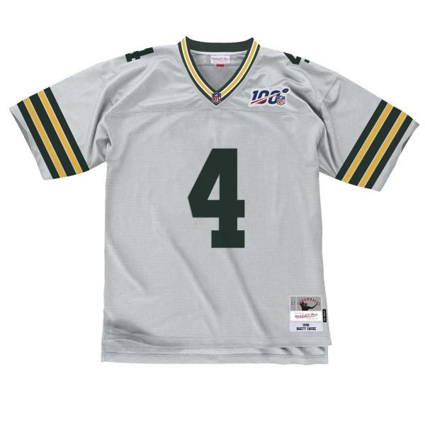 Brett Favre #4 Green Bay Packers Platinum Edition Mitchell & Ness NFL Trikot Silber