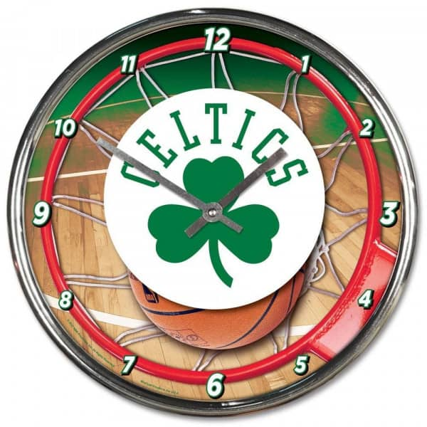 Boston Celtics Chrome NBA Wanduhr