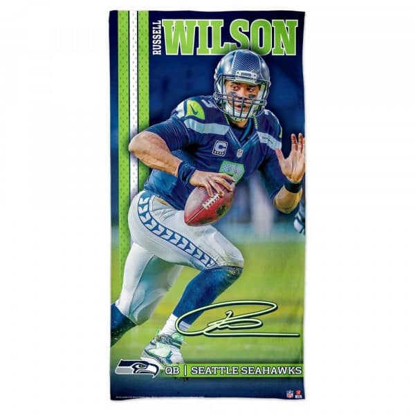 Russell Wilson Seattle Seahawks NFL Strandtuch