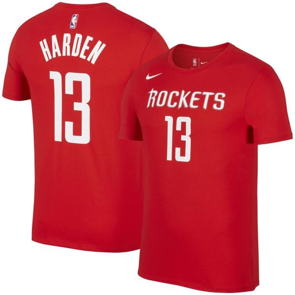 ebf89654e1d Nike James Harden #13 Houston Rockets Player NBA T-Shirt Rot   TAASS ...