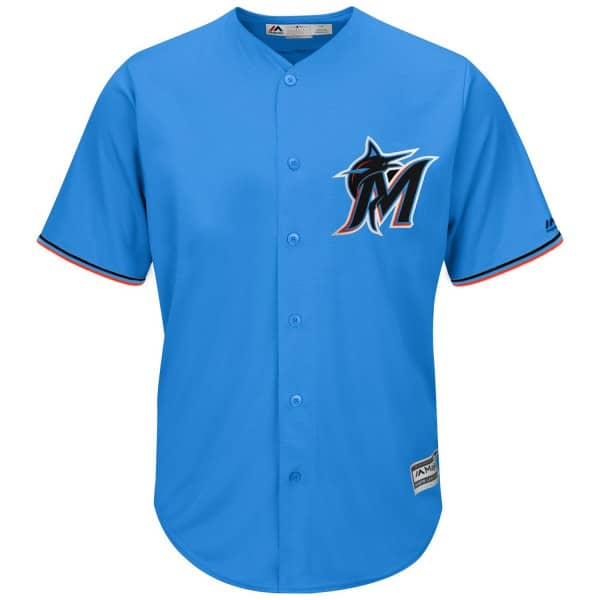Miami Marlins Cool Base MLB Trikot Alternate Blau