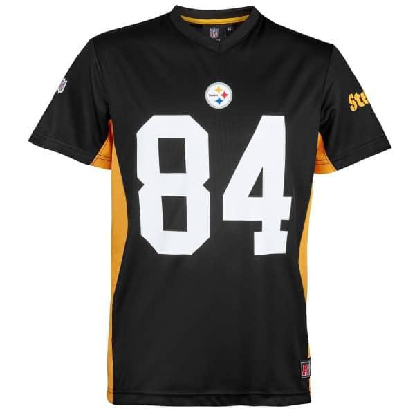 cfd9028d9c3 Antonio Brown  84 Pittsburgh Steelers MORO MESH Jersey NFL T-Shirt ...