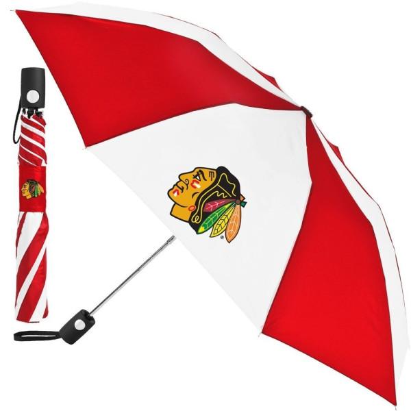 Chicago Blackhawks NHL Regenschirm (Taschenschirm mit Automatik)
