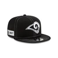 Los Angeles Rams 2019 NFL Sideline Black 9FIFTY Snapback Cap Road