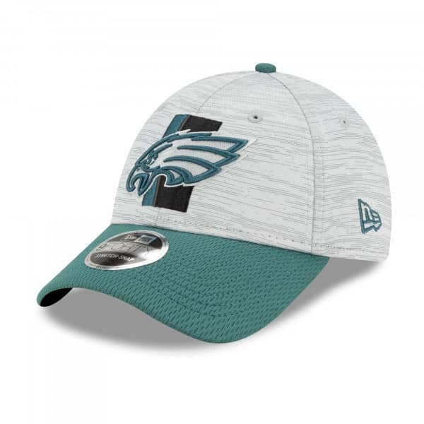 Philadelphia Eagles 2021 NFL Offical Training New Era Stretch-Snap 9FORTY Cap