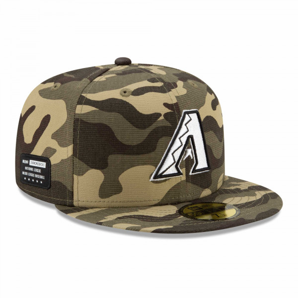 Arizona Diamondbacks 2021 MLB Authentic Armed Forces New Era 59FIFTY Fitted Cap