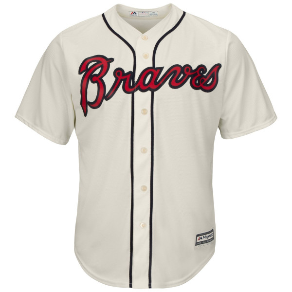 Atlanta Braves Cool Base MLB Trikot Alternate Ivory