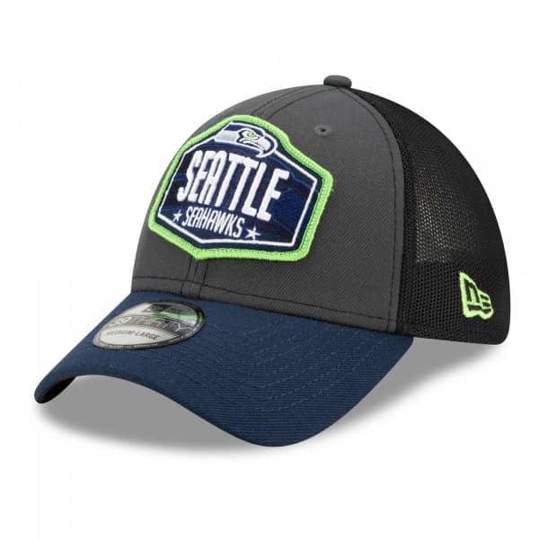 Seattle Seahawks Official 2021 NFL Draft New Era 39THIRTY Flex Fit Cap