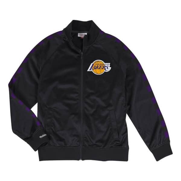 watch a6627 18a8e Mitchell   Ness Los Angeles Lakers Hardwood Classics NBA Track Jacket Black    TAASS.com Fan Shop