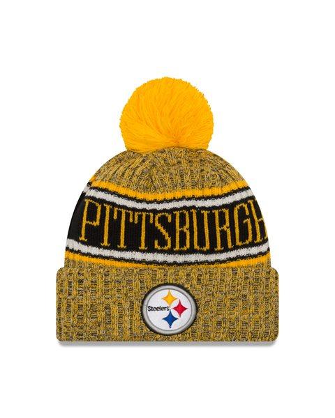 New Era Pittsburgh Steelers REVERSE 2018 Sideline Sport Knit NFL Knit Hat  1fcdd0424