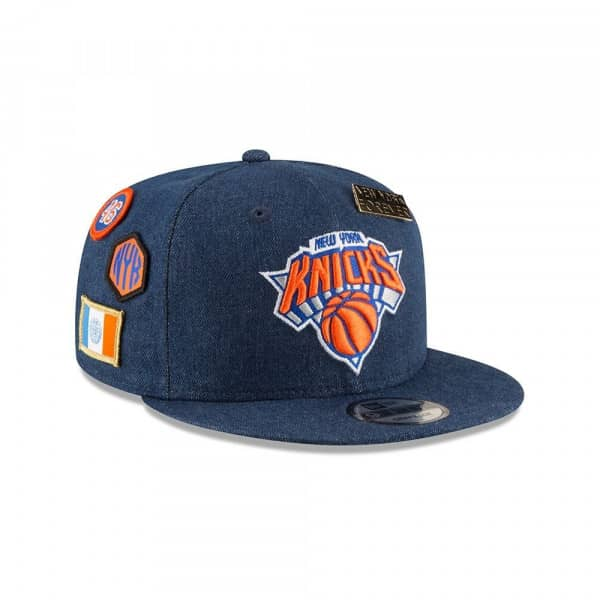 on sale eca7d a9b0b New York Knicks 2018 NBA Draft 9FIFTY Snapback Cap Blue Denim