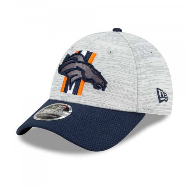 Denver Broncos 2021 NFL Offical Training New Era Stretch-Snap 9FORTY Cap