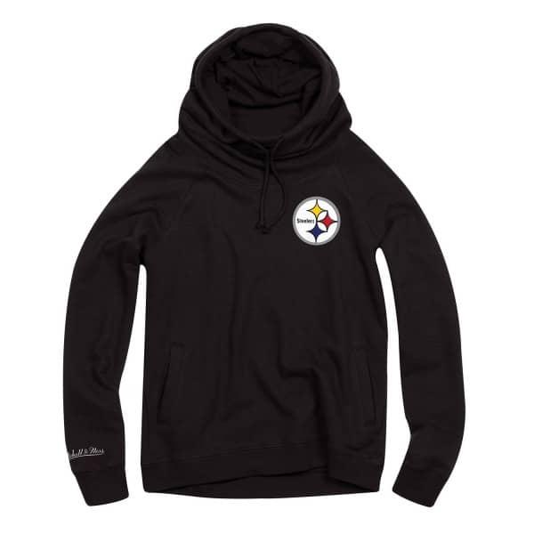 Pittsburgh Steelers Funnel Neck Pullover NFL Hoodie (DAMEN)