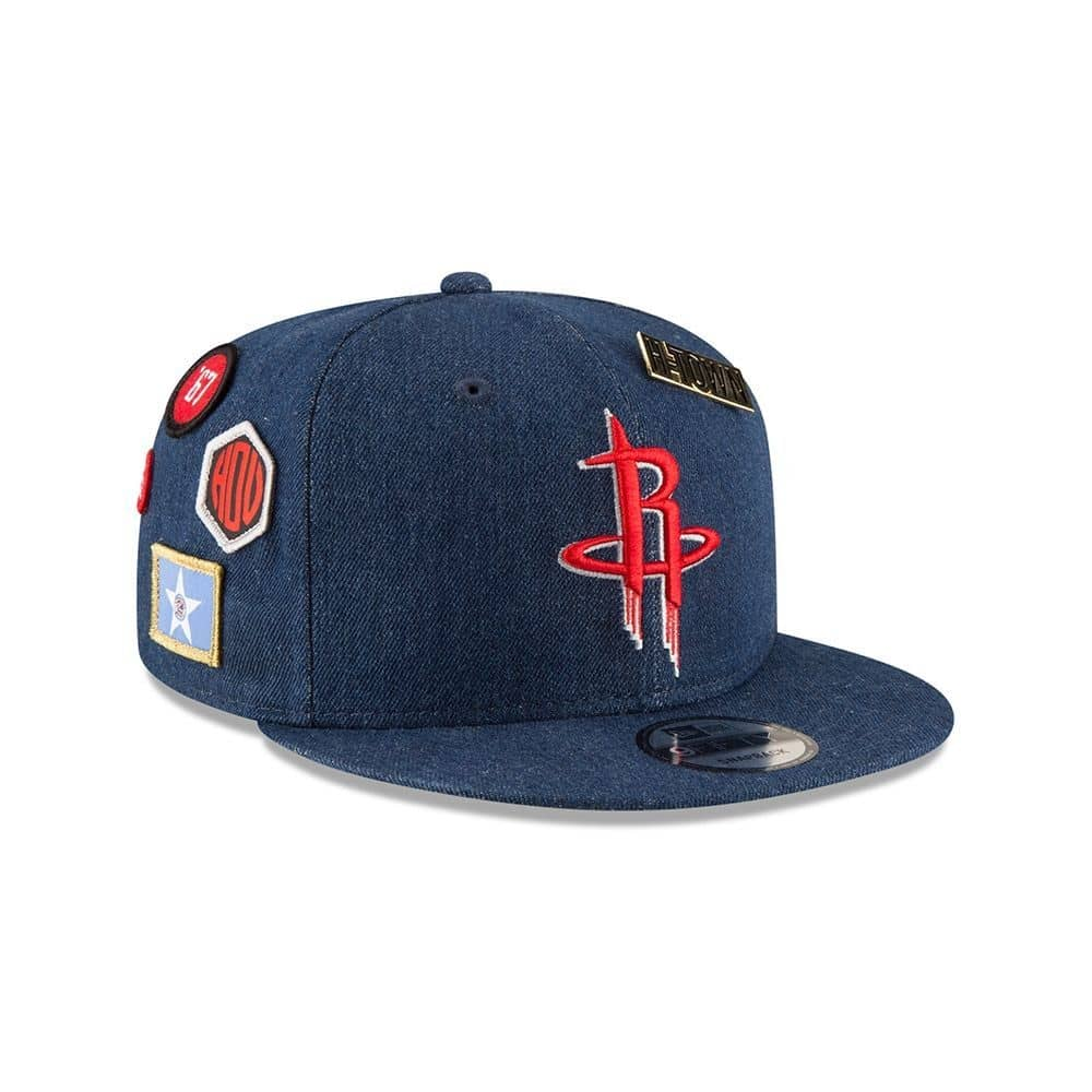 03acf905 New Era Houston Rockets 2018 NBA Draft 9FIFTY Snapback Cap Blue Denim |  TAASS.com Fan Shop