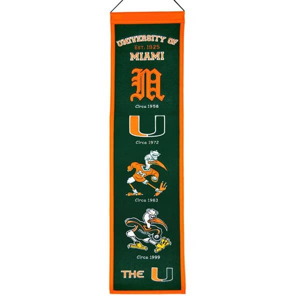 Miami Hurricanes NCAA Heritage Banner