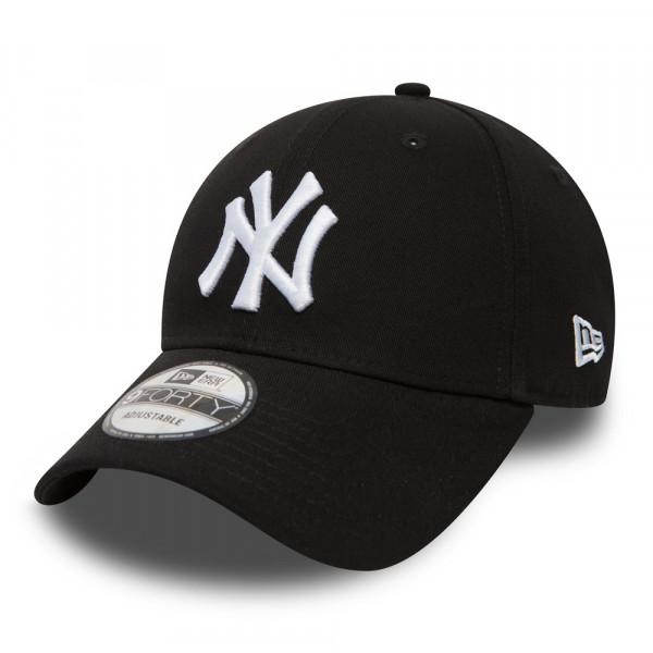 the latest f559c 1b10a New York Yankees 9FORTY League Basic MLB Cap Schwarz Weiß