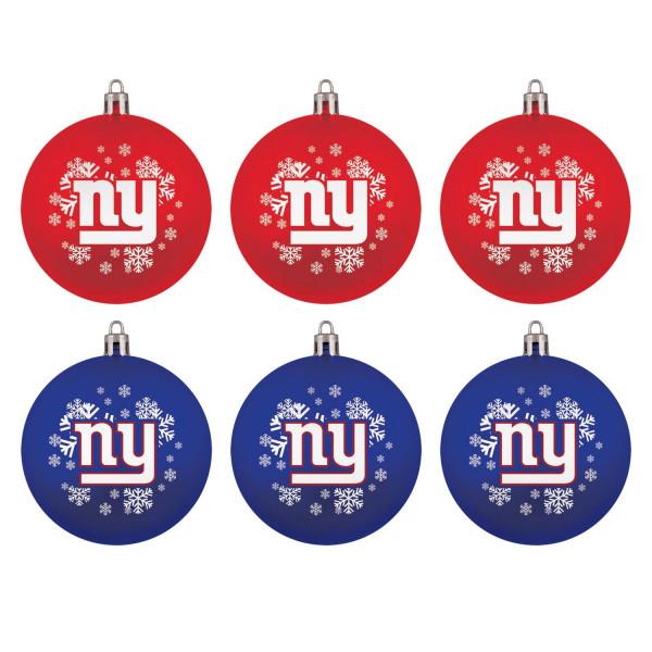 New York Giants NFL Weihnachtskugeln Geschenk-Set (6-Teilig)