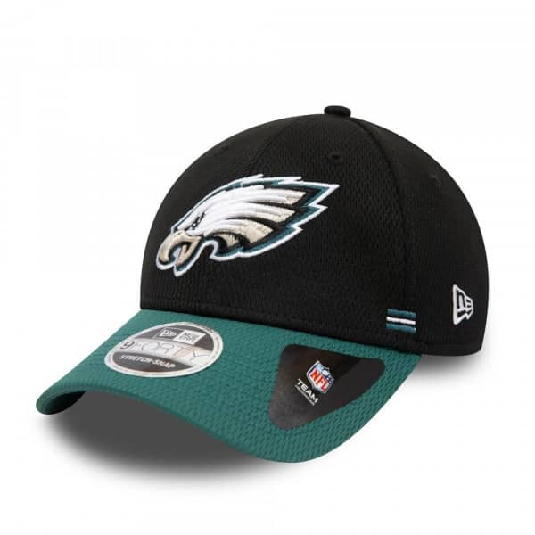 Philadelphia Eagles Unofficial 2020 NFL Sideline New Era Stretch-Snap 9FORTY Cap Home