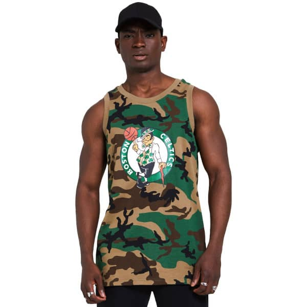 Boston Celtics New Era Woodland Camo NBA Tank Top