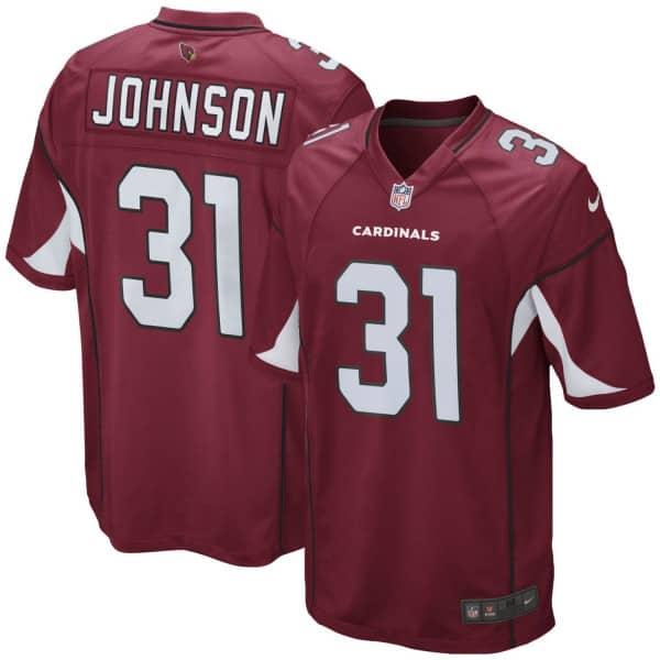 David Johnson #31 Arizona Cardinals Game Football NFL Trikot Rot