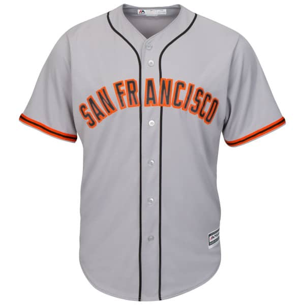 San Francisco Giants Cool Base MLB Trikot Road Grau