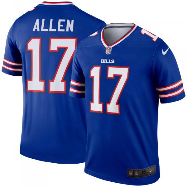 Josh Allen #17 Buffalo Bills Nike Legend NFL Football Trikot Blau