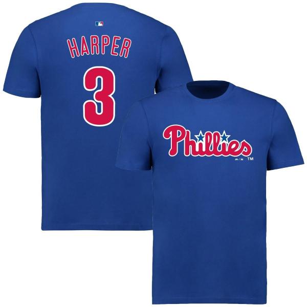 Bryce Harper #3 Philadelphia Phillies Player MLB T-Shirt