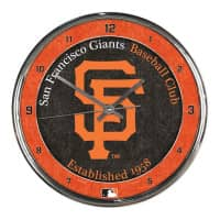 San Francisco Giants Chrome MLB Wanduhr