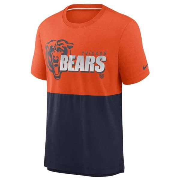 Chicago Bears 2020 NFL Colorblock Nike Tri-Blend T-Shirt
