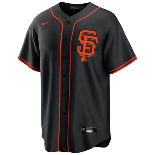 San Francisco Giants 2020 Nike MLB Replica Alternate Trikot Schwarz