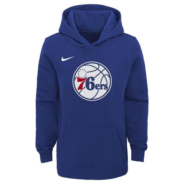 Philadelphia 76ers Mesh Logo Youth NBA Sweatshirt Hoodie (KINDER)