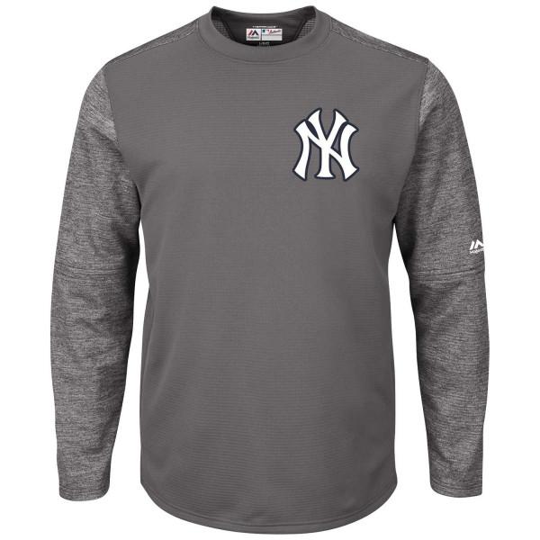 new style 4cc71 0ecba New York Yankees Authentic Tech Fleece Crewneck MLB Sweatshirt