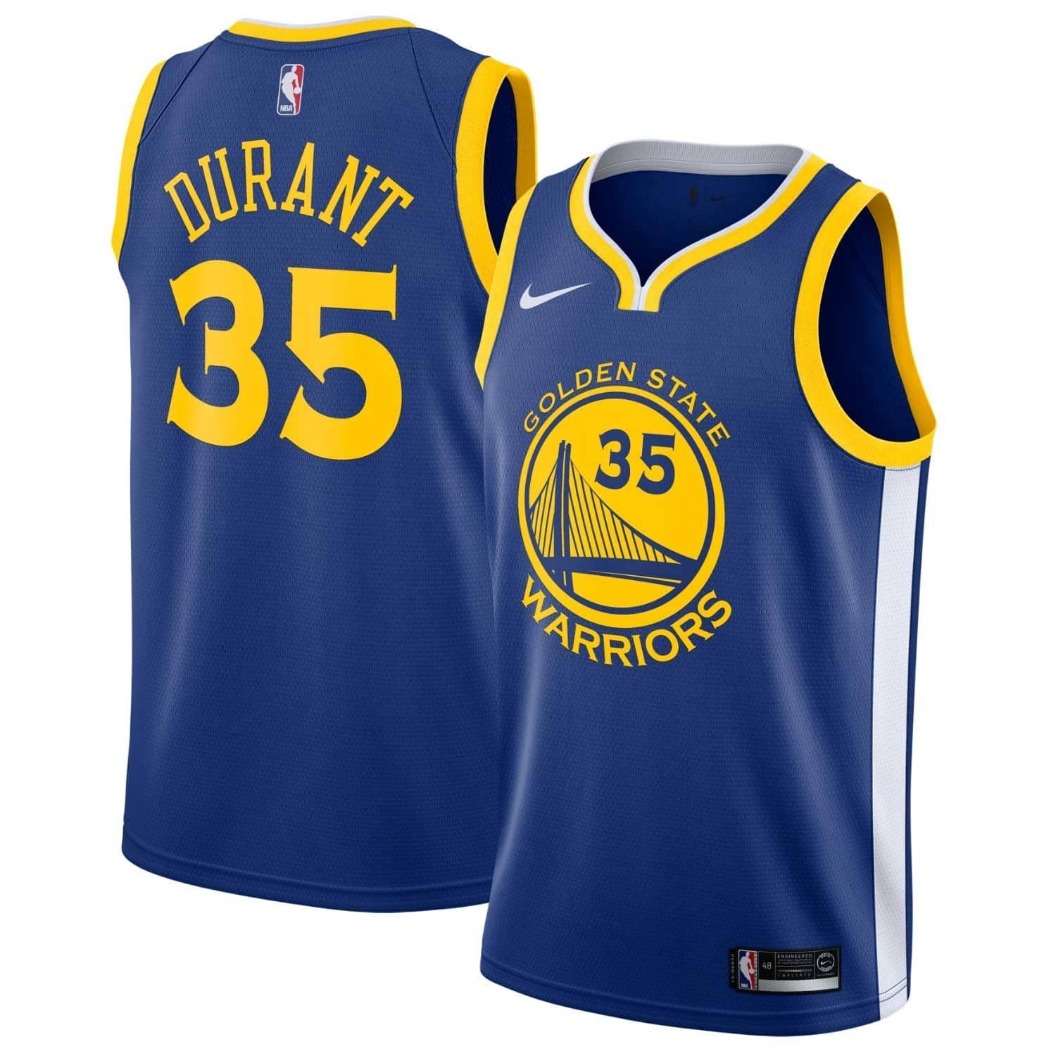 b5343727f8f Nike Kevin Durant  35 Golden State Warriors Icon Swingman NBA Jersey Blue
