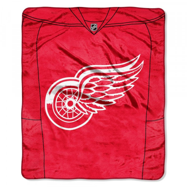 Detroit Red Wings Raschel Jersey NHL Decke