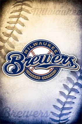 Milwaukee Brewers Team Logo Baseball MLB Poster RP13251