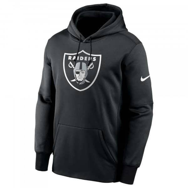 Las Vegas Raiders Prime Logo Nike Therma NFL Hoodie Schwarz