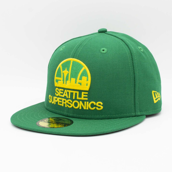 Seattle SuperSonics Classic Logo New Era 59FIFTY Fitted NBA Cap Grün