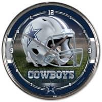 Dallas Cowboys Chrome NFL Wanduhr
