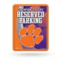 Clemson Tigers Reserved Parking NCAA Metallschild