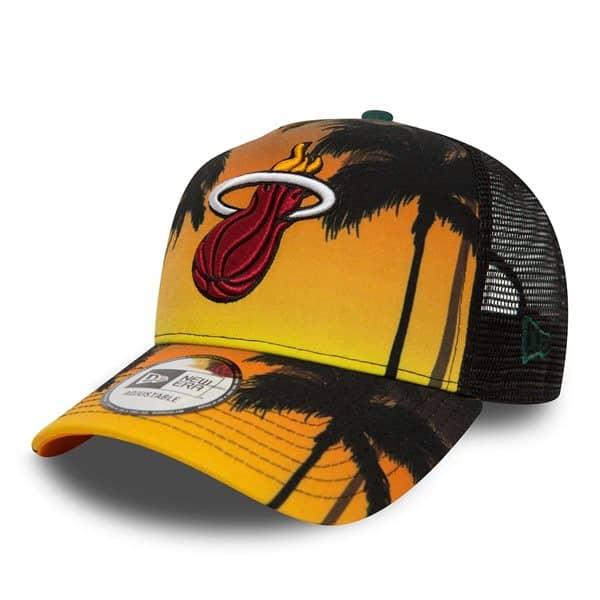 newest collection d6444 7d1f1 New Era Miami Heat Coastal Heat Trucker Adjustable NBA Cap   TAASS.com Fan  Shop