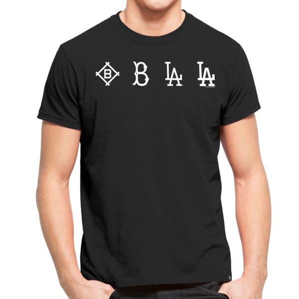 Los Angeles Dodgers Logo Evolution MLB T-Shirt Schwarz
