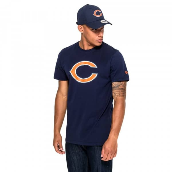 Chicago Bears Team Logo Football NFL T-Shirt Navy