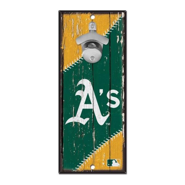 Oakland Athletics MLB Schild mit Flaschenöffner
