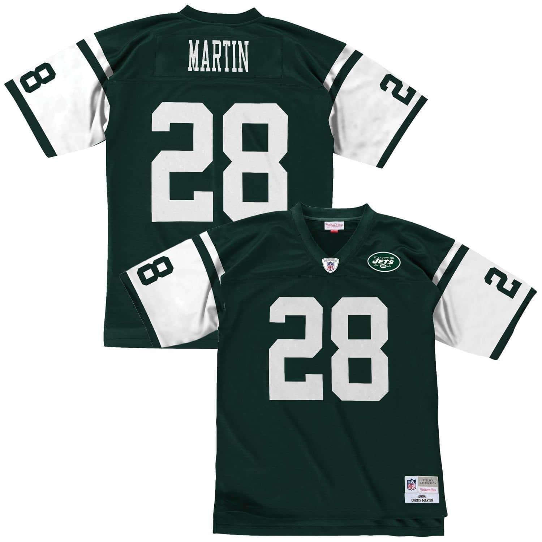 6b876b1e92c Mitchell & Ness Curtis Martin #28 New York Jets Legacy Throwback NFL Jersey  Green | TAASS.com Fan Shop